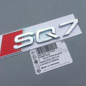 "ABS ""SQ7"" Silver Chrome Emblem 3D Trunk Logo Emblem Badge k Decoration"