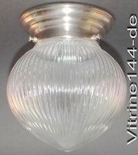 BAUHAUS Deckenlampe INDUSTRIEDESIGN GLASKUGEL klar+geriffelt + silbernem Ring