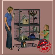 Large Ferret Cage Chinchilla Rabbit Hamster Guinea Pig House Small Pets Home New