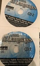 18 Languages 2 CD-ROM Set Instant Immersion Topics Learn to Speak