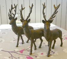 Deko Hirsch Weihnachtsdeko Xmas Skulptur Dekofigur Bronze-Effekt braun H33cm NEU