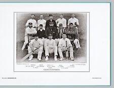 CRICKET  -  UNMOUNTED CRICKET TEAM PRINT - GLOUCESTERSHIRE - 1895