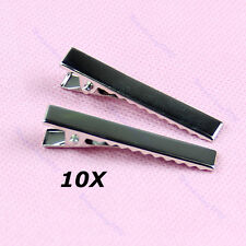 Metal Girls Hair Bows Alligator Clips Korker with Teech Clip for DIY Sliver 10PC