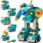 Take Apart Robot Toy Vehicle Set 5 in 1 Construction Toys for 5 Year Old Boys...