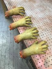 Halloween Gory Chop Shop Cut Off Zombie Hand Nasty Life size Prop Decoration