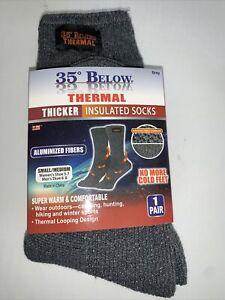 35° Below Thermal Socks Aluminized Fibers Warming 1 Pair Grey Small/Medium
