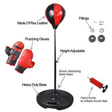Boxing Punch Bag Ball Set With Gloves Standing Play Toy Adults Xmas Gift