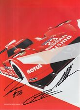 Pla, Mardenborough, Chilton Hand Signed Nissan GT-R LM Nismo Leaflet.