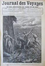 JOURNAL DES VOYAGES 456 de 1886 PATAGONIE MOEURS PATAGONS AFRIQUE NIGER BENOUE