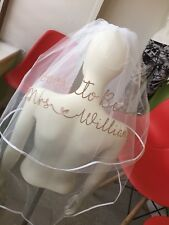 Personalised Veil Hen Party Glitter New  Heart Classy Soon To Be Bride To Be