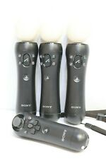 3 x Official Sony PlayStation Move Motion Controller PS3 PS4 +Nav Controller-250