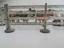 Vintage Toy Fence and barn yard animals, Cows, Horses, and 1 Dog