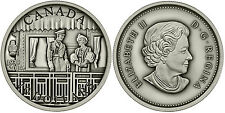 2014 $20 Antique Finish Fine Silver Coin - 75th Ann. of the First Royal Visit