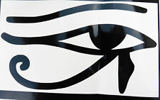 EYE OF HORUS DIEUX mythe Magic autocollants / VOITURE / FOURGONNETTE / Pare-chocs / fenêtre / autocollant 5198 Noir