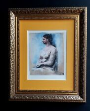 PABLO PICASSO ORIGINAL 1956 BEAUTIFUL SIGNED PRINT MATTED 11 X 14 + VALUE