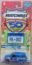 2001 MATCHBOX ACROSS AMERICA 50TH BIRTHDAY  PENNSYLVANIA CHEVY TAHOE POLICE