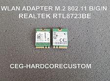 WLAN WiFi Realtek rtl8723be ☛ Wireless Adapter m.2 ☛ 802.11 b/g/n + Bluetooth ✔