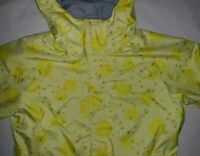 "BONFIRE Girl SNOWBOARD~SKI Winter Coat~Jacket~Youth Medium~YELLOW~""POSIES""~ Hood"