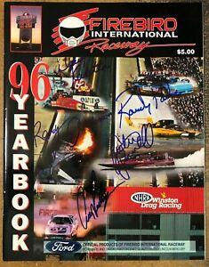 Firebird International Raceway Signed 1996 Yearbook - NHRA Drag Racing Auto