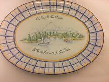 "R. B. Bernarda Kate Williams 1994 Oblong Serving Platter Portugal 16""x12"""