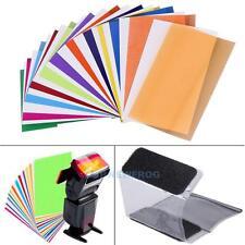 12 Pieces Card Set for Flash Gel Filter Color Balance Diffuser Lighting w/Holder