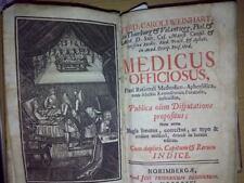 Settecentina- Weinhart- Medicus officiosus praxi rationali... 1726 medicina