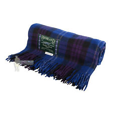 75% WOOL SCOTTISH TWEED TARTAN RUG / BLANKET / THROW - HERITAGE OF SCOTLAND
