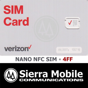 VERIZON NANO NFC SIM 4FF • CDMA 4G 5G LTE • ANDROID • WITH TRACKING • NEW