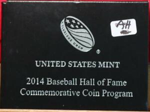 Uncirculated 2014 U.S. Mint Baseball Hall of Fame Commemorative Coin Program