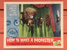 "Vintage 1958  HOW TO MAKE A MONSTER MOVIE LOBBY CARD 11"" X 14"" Free Shipping WOW"
