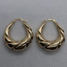 9ct Yellow Gold Creole Earrings