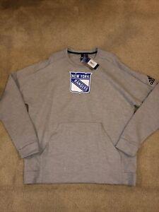 Adidas New York Rangers Fleece Crew Sweater Men's SZ XL New NHL