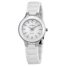 DKNY White Dial White Ceramic Ladies Watch NY4886