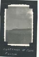 WWII 1943 GI's Oran Algeria Photo Lighthouse at Cape Falcon