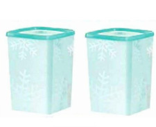 Tupperware Freeze-It Tall Square Rounds 6-cup Freezer Safe Containers Set New