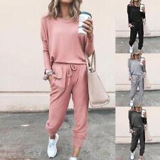 Women Tracksuits Set (2PCS) Top+Pants Lounge Wear Ladies Hoodies Suit Loungewear