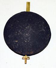 Cast Iron Tall Case Grandfather Clock Pendulum Bob and Rating Assembly