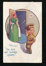 Military WW1 Comic Artist REG MAURICE Boy Soldier smacked bottom PPC