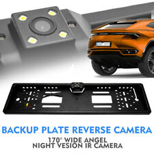 Car Rear View Reverse Camera Backup License Number Plate Night Vision IR LEDs