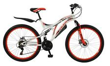 "Boss Ice White Ladies 26"" Wheel 18 Speed Full Dual Suspension MTB Bike B2016158"