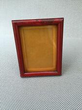 Ancien petit cadre photo bois Fenoglio à poser avec vitre french antique
