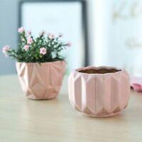 3 Piece Ins Geometric Gold Pink Flower Pots Set Desktop Succulent Ceramic Modern