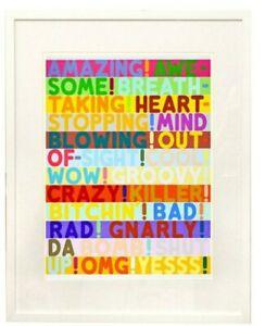 MEL BOCHNER, Amazing Print 2010 UNFRAMED jonas wood, kaws