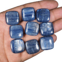 9 Pcs Natural Kyanite 20mm Cushion Cabs Finest Quality Untreated Gemstones Lot