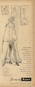 1948 Kayser PRINT AD Women's Hose, Underwear & Lingerie