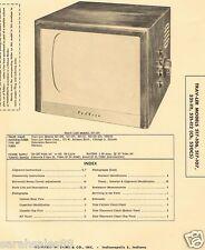 Service 1956 Photofact TRAV-LER 517-106 107 521-111 112 Ch.520C5 TELEVISION TV