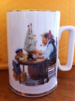 Vtg Mug 1985 Coffee Tea Cup For A Good Boy Ship Norman Rockwell Museum Ceramic