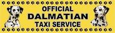 DALMATIAN OFFICIAL TAXI SERVICE  Dog Car Sticker  By Starprint