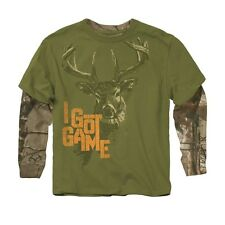 Buckwear Realtree Camo Camouflage Toddler or Boys T-Shirt I Got Game Long Sleeve