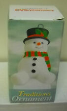 #7793 NIB CVS Pharmacy 1998 Snowman Traditions Ornament